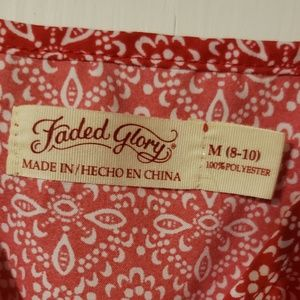 Faded Glory Tops - Faded Glory patterned tank - M (8-10)